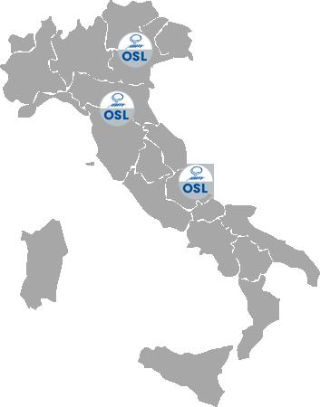 Mappa Italia Sedi OSL